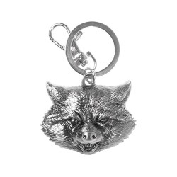 ROCKET RACCOON PEWTER KEYCHAIN