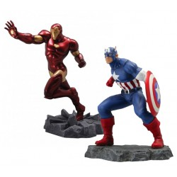 Semic Action 1/8 Statue 2 pack - Captain America & Iron Man Civil War