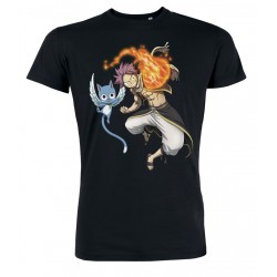 Fairy Tail - Natsu & Happy Men T-Shirt - Black