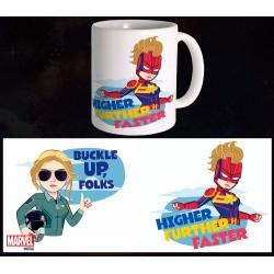 Mug Captain Marvel - Buckle up