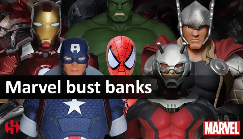 Marvel bust banks